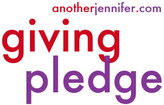 another jennifer giving pledge badge