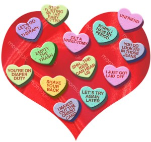 silly valentines hearts