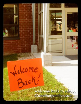 welcome back sign