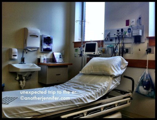 Wordless Wednesday (12.26.12): Unexpected Trip to the ER (with a neighbor) by Jennifer Barbour
