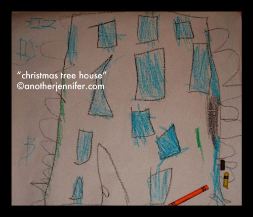 "Wordless Wednesday (1.9.13): ""Christmas Tree House"" by Biz"