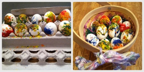 waxed easter eggs