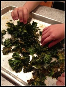 Linda's kale chips last about 5 minutes when she makes them!