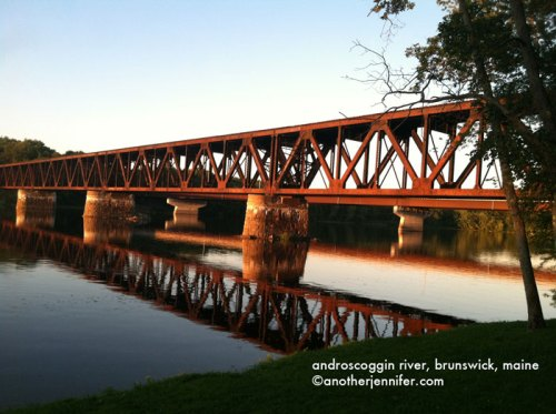 Wordless Wednesday (8.7.13): Androscoggin River, Brunswick, Maine by Jennifer Barbour
