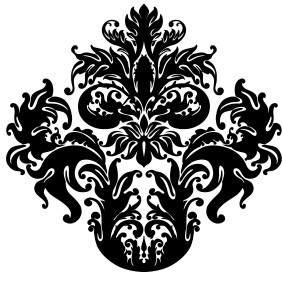 The damask design I decided to go with.