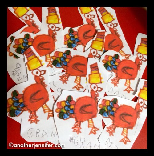 Thanksgiving place cards.