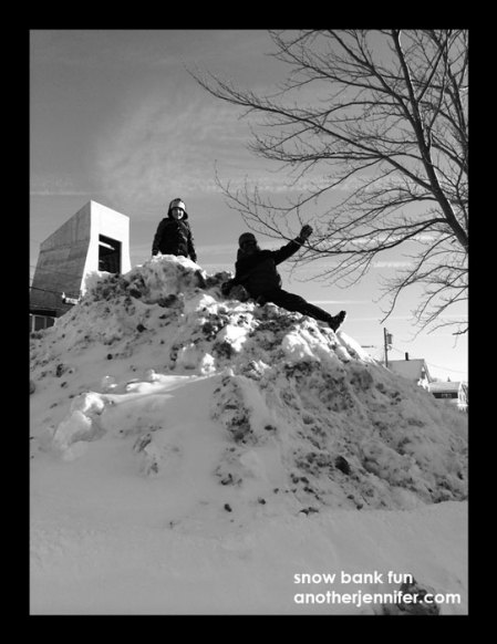 snow bank fun