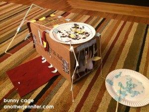 homemade bunny cage