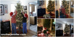 Wordless Wednesday: Trimming the Tree