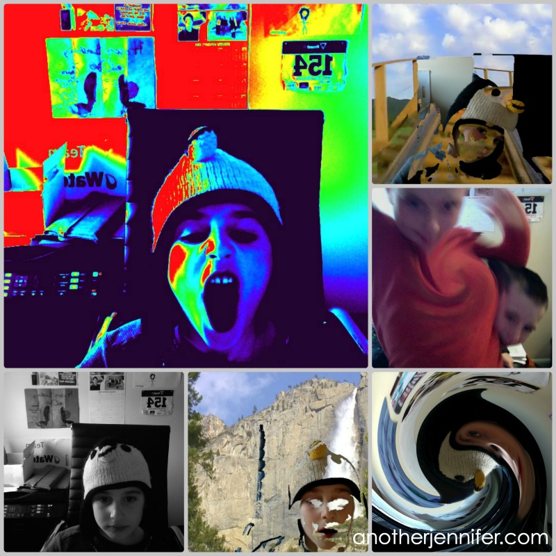 crazy kid photo collage