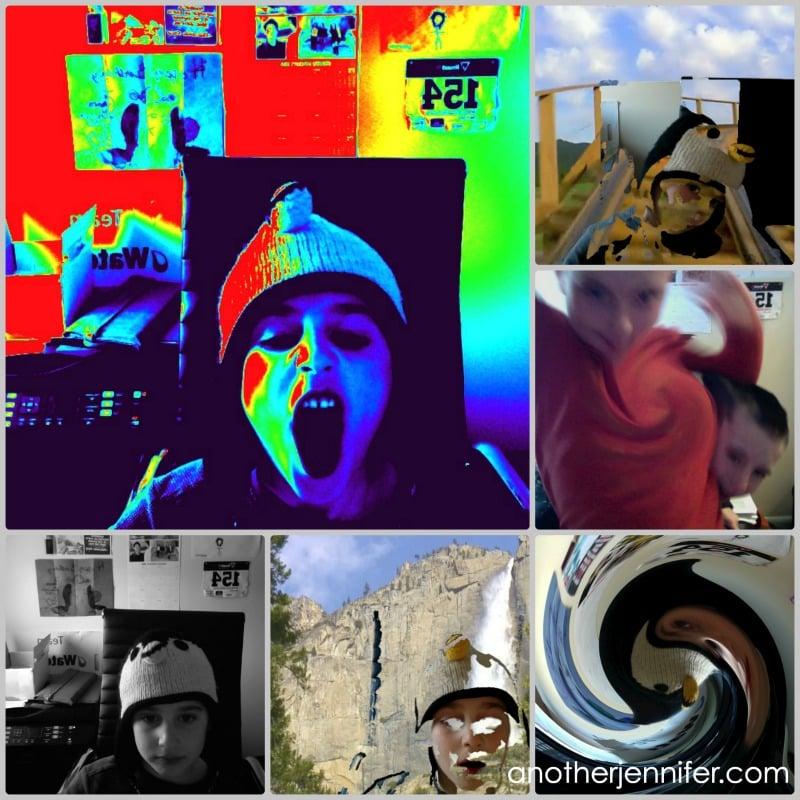 crazy kid photo collage