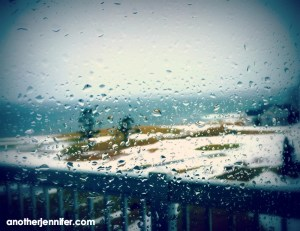 Wordless Wednesday (2.17.16): Rainy Ocean View