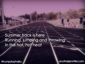 summer track haiku