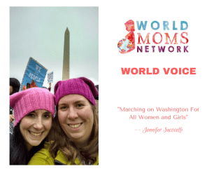 On World Moms Blog: Marching on Washington for all Women and Girls