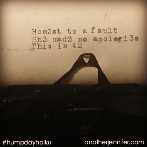 Hump Day Haiku: This is 42