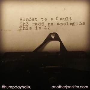Hump Day Haiku: This is 42