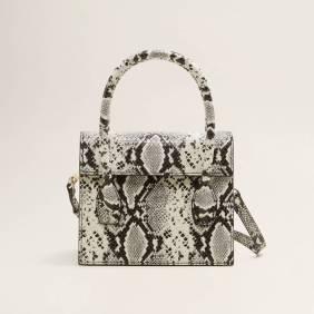 Mango Snakeskin Effect Bag ($50)