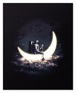 Moon And Stars Nursery Wall Poster