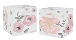 Floral Nursery Toy Bins