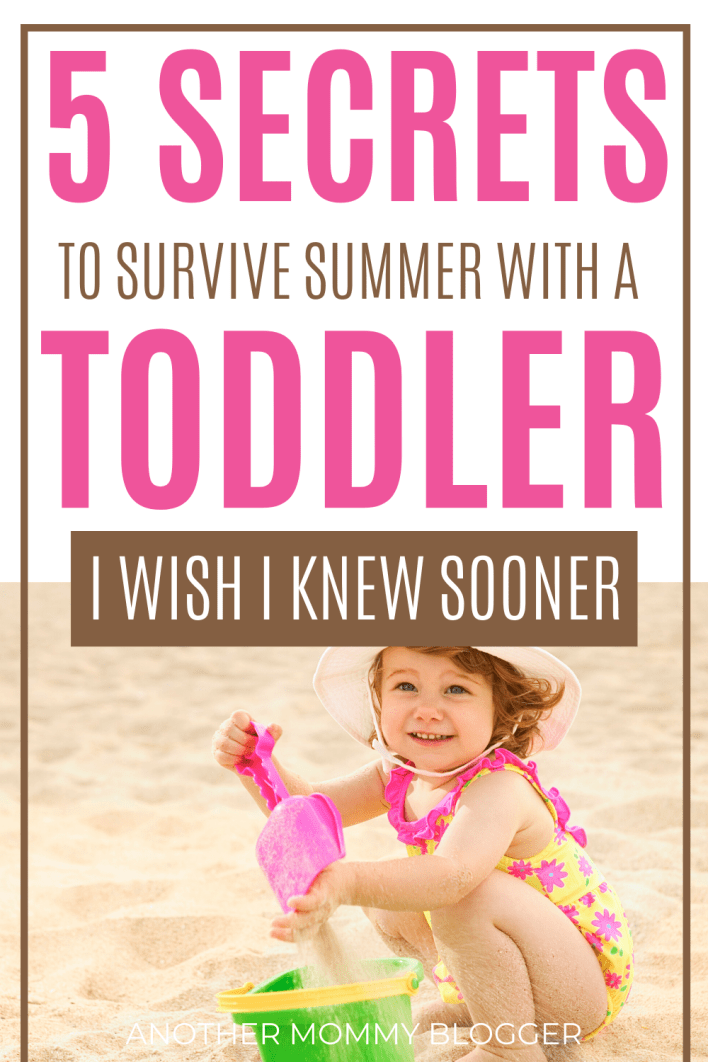 Use this toddler schedule and summer activities for toddlers to survive the summer with your little one. #toddleractivities #summer