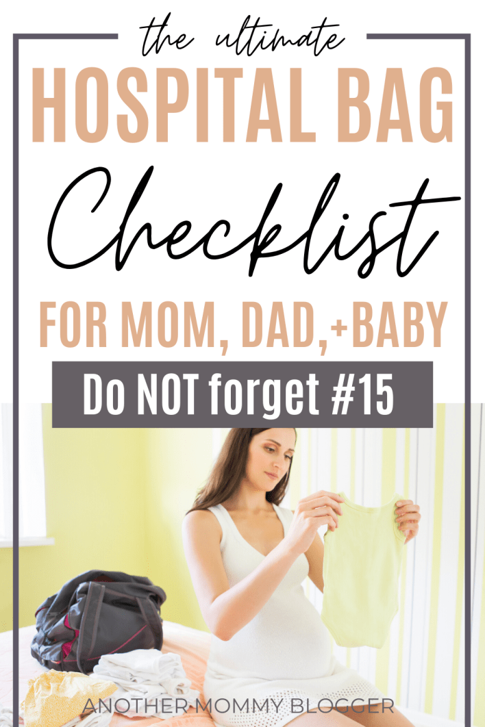This hospital bag checklist for mom to be has everything you'll need for you, dad and baby. #hospitalbag #checklist #pregnancy
