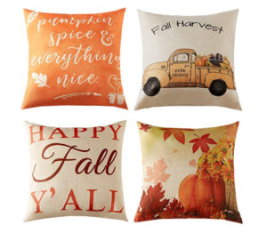 Fall throw pillows