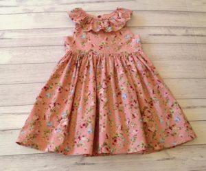 two black rabbits vintage pink dress