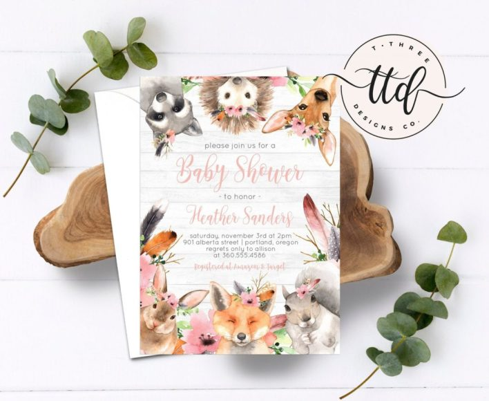 Woodland Baby Shower Themes For Girls
