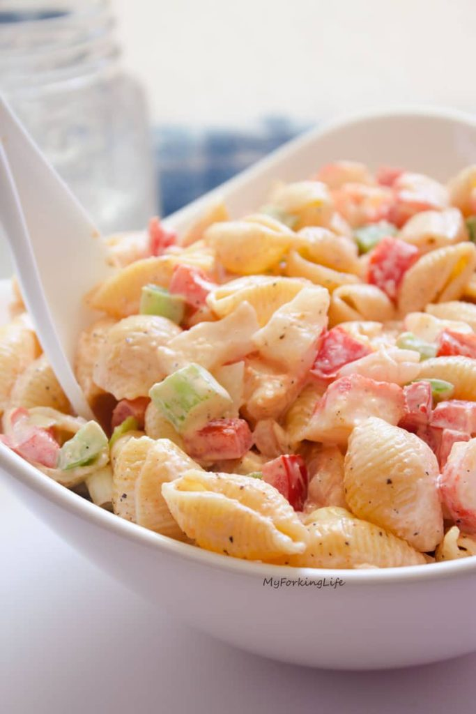 Seafood side salad