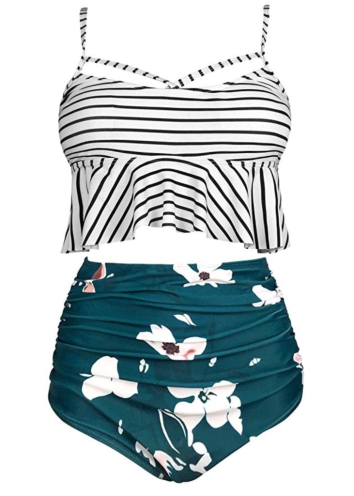 Full coverage high waisted swimsuit