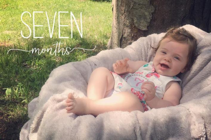 Seven months old baby photography ideas