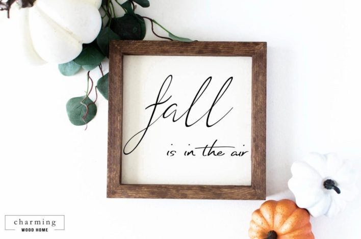 Fall Is In The Air Wall Decor Sign