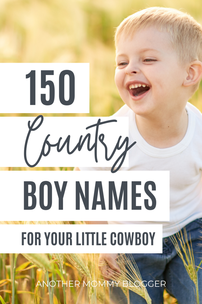 This is a baby boy names list of strong country boy names with meaning. These are southern first and middle names for boys.
