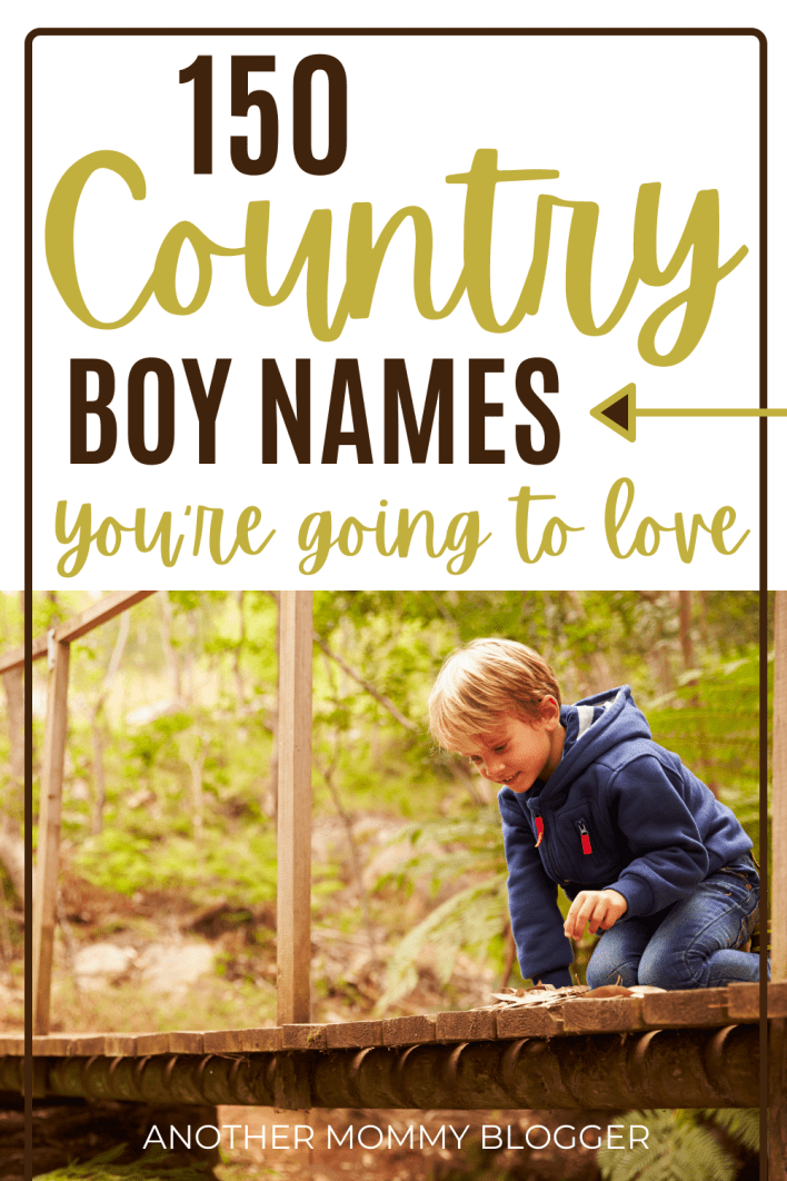 Looking for country boy names with that southern rustic sound. Check out this baby boy names list. #boynames