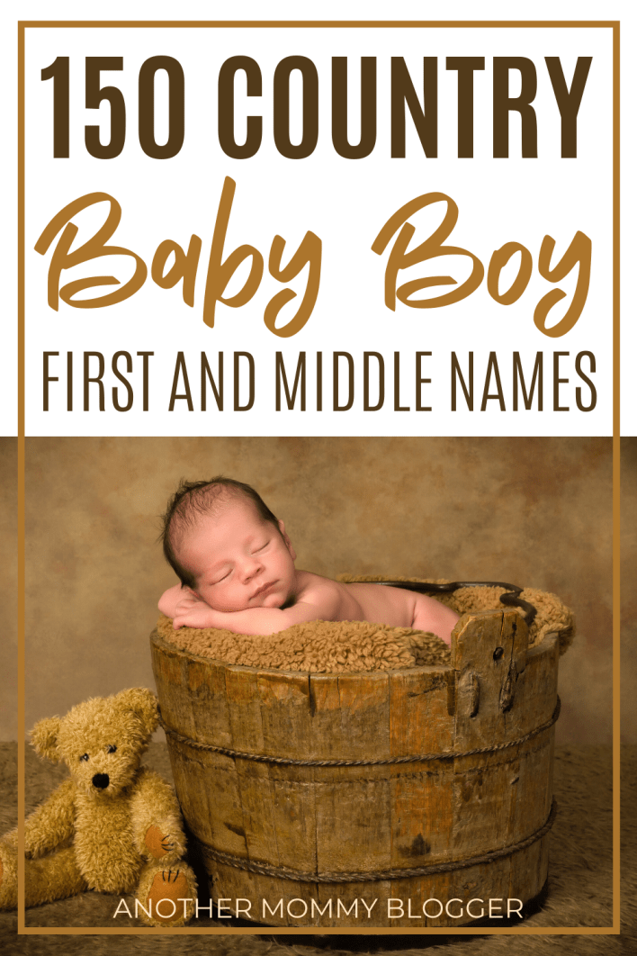 These baby boy names are country and rustic. #babyboynames