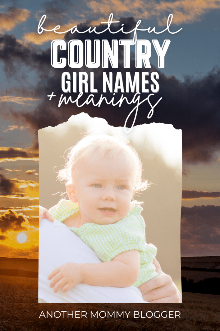 Looking for that perfect pretty rustic country girl name? This baby girl names list has the best southern girl names. These are country girl names with meanings.