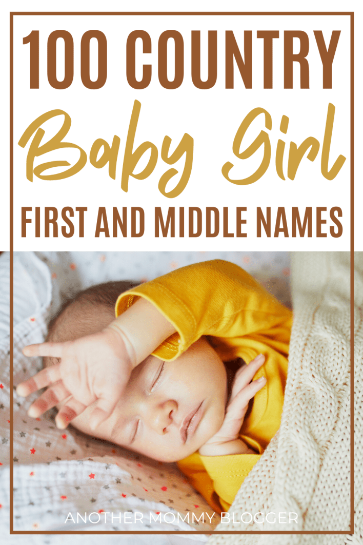 Pick a country baby girl name from this baby names list for a name that is sweet and rustic. #babygirlnames