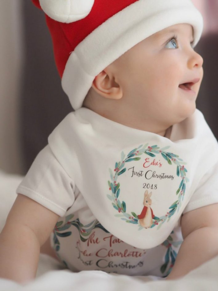 Baby's Christmas Bib Personalized
