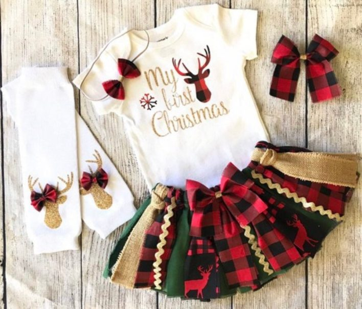 Baby Girls First Christmas Outfit