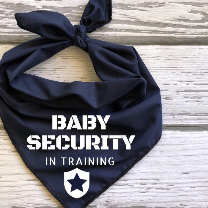Baby Security Dog Bandana