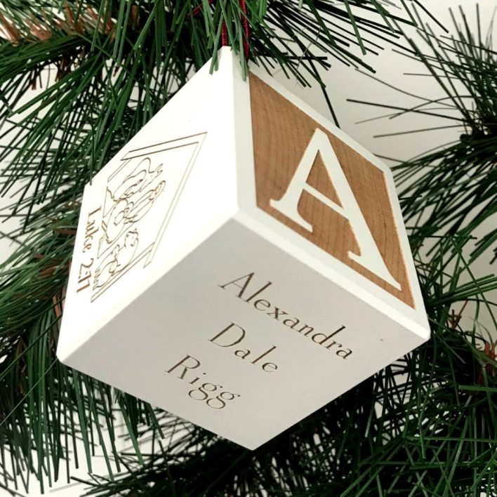 Child's Block Christmas Ornament