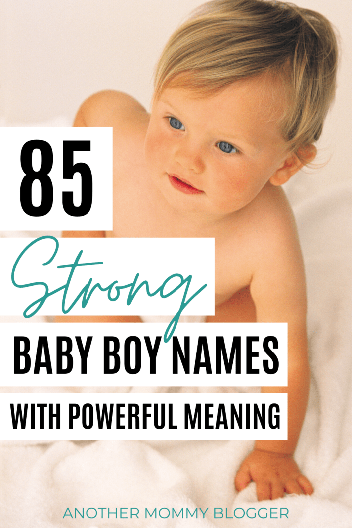 Chose a strong baby boy name for your tough little guy. #babyboynames