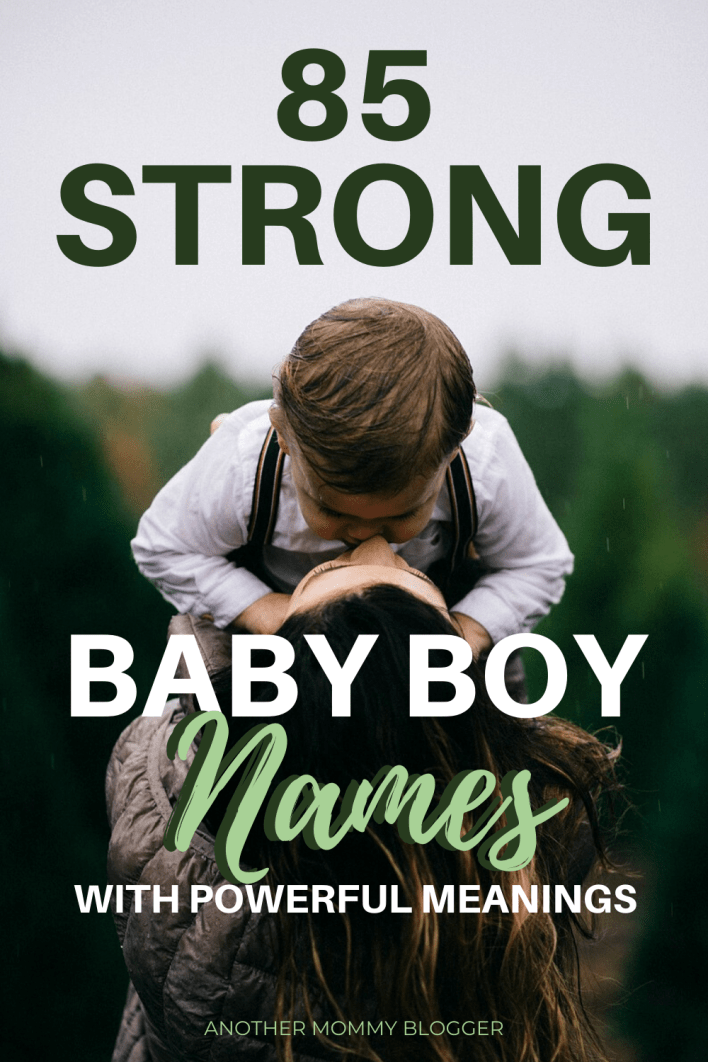 Baby boy names that are strong, powerful and manly. Don't pick a baby name without seeing this baby boy names list. #babyboynames #babynames #babyboy #babytips