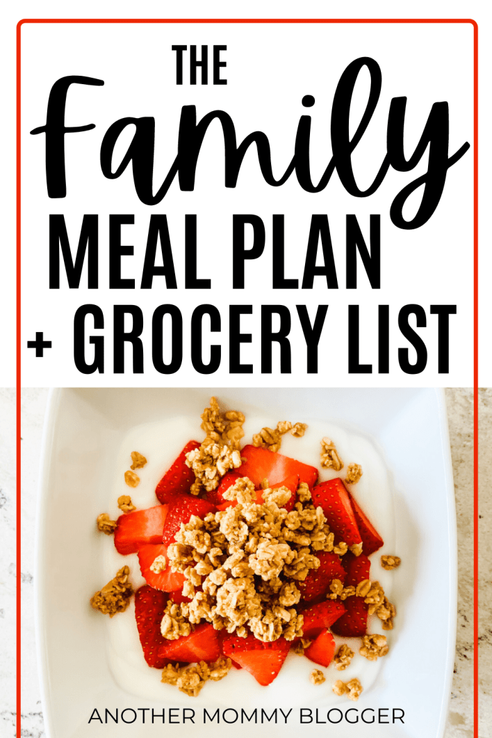 Need help with easy family meal planning? Get a whole months worth of healthy meal ideas kids will love. #mealplan #familymealideas