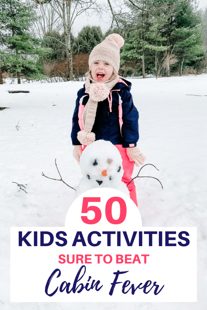 Need to beat cabin fever? Try these indoor and outdoor winter activities for kids. These are great activities for toddler, preschoolers and old kids. #kidsactivities