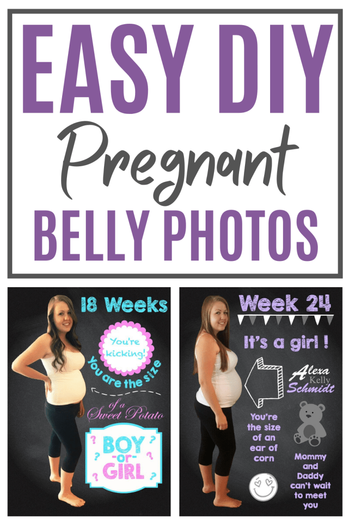 Easy diy pregnant belly photo ideas to capture and share your beautiful bump. #pregnancy