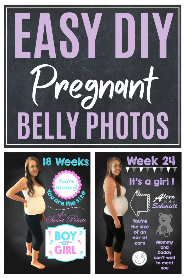 Easy diy maternity photo ideas to capture and share your beautiful pregnant belly. #pregnancy