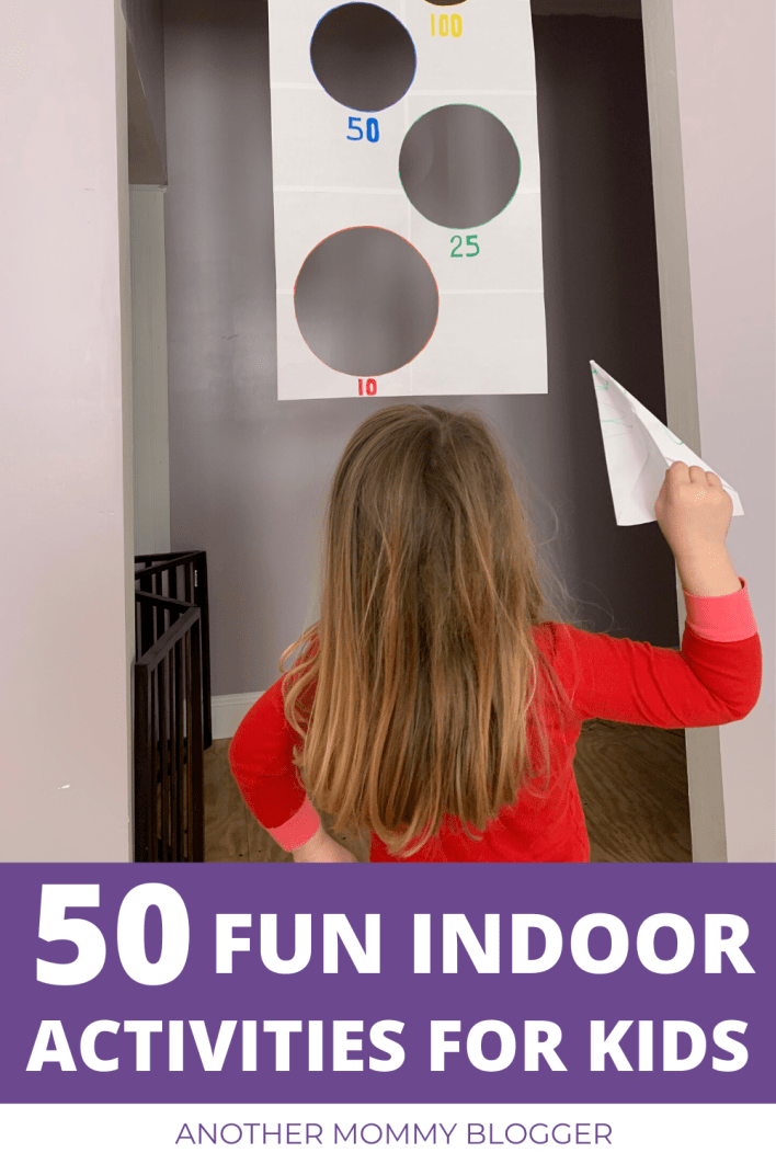 50 fun things for kids to do inside! These activities for kids will keep your children happy and active when they're stuck at home. #kidsactivities