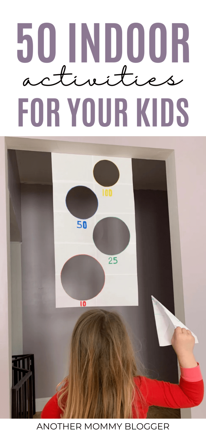 This is a list of fun indoor activities for kids. You're kids will have fun inside with these fun ideas. #kidsactivities