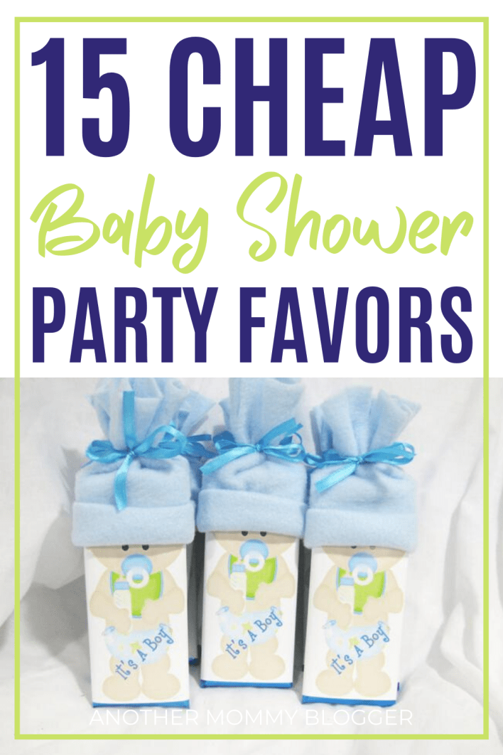Don't go broke thanking your guests. These baby shower party favors are cute but affordable. #babyshower